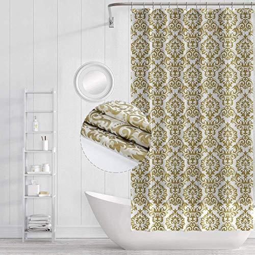 Funria Wasserdicht Duschvorhang Mehltau Beständiges Antibakterielles Badezimmer Vorhänge Badezimmer Duschvorhänge mit Haken, 180cm x 180cm