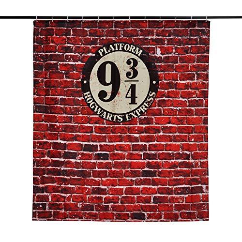 Elbenwald Harry Potter Duschvorhang Gleis 9 3/4 Wand Banner 180x200cm rot