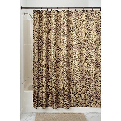 iDesign Cheetah Duschvorhang | Designer Duschvorhang mit Animal-Print| schöner Badewannenvorhang 183,0 cm x 183,0 cm im Safari-Look | Polyester braun