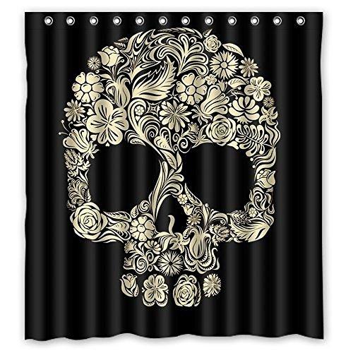 Dream Außerhalb Totenkopf Cool Personalisierte Design Custom Wasserdicht Duschvorhang aus Stoff, 167,6cm (W) X 182,9cm (H)