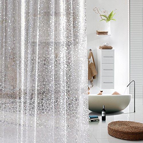 ToHa DuschvorhangPlastik PVC Kopfstein Transluzenz Liner für Duschvorhang,Wasserdicht und Mouldproof für Bad,180cmx200cm