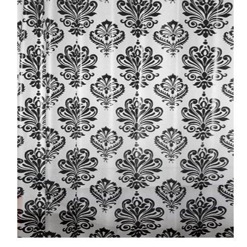 Papillon Duschvorhang, Barock schwarz/weiß, 0,1x 180x 180cm