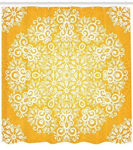 Duschvorhang gelb anschauen | Gelbe Duschvorhänge online