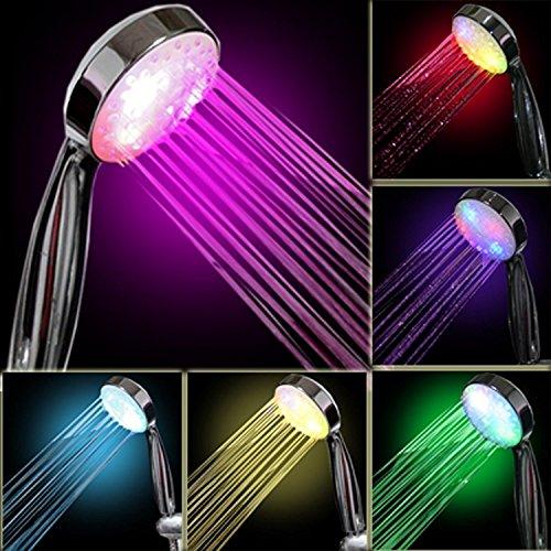 InteTech LED-Leuchte für Duschen, 7 Farben, Mehrfarbig, universell passend