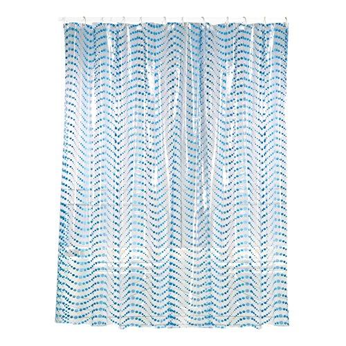 MSV 140267 Duschvorhang, PVC, 180x200x0,1cm, Blau