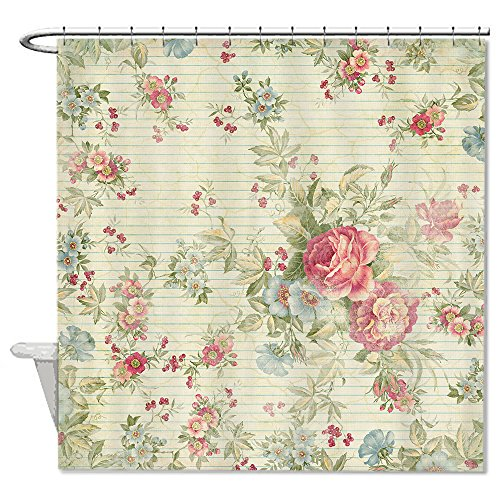 warrantyll Vintage Colorful Blumen Badezimmer Polyester Duschvorhang wasserdicht 182,9x 182,9cm