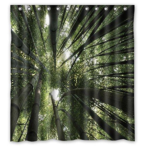 sanmou Custom Bambus Anzu Muster Wasserdicht Duschvorhang, Polyester Badezimmer 167,6x 182,9cm, Polyester, B, 66 Inches x 72 Inches