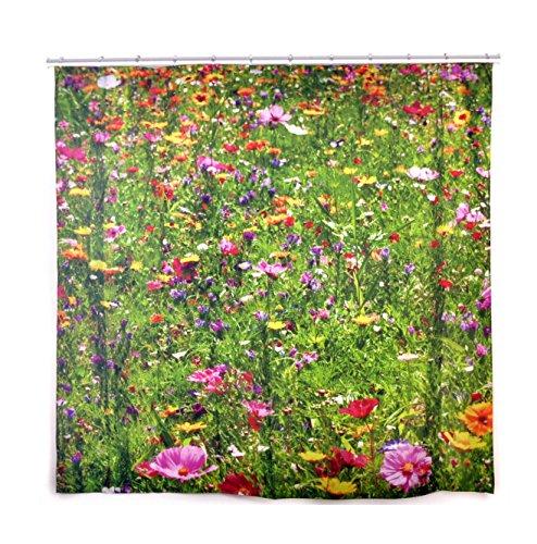 Blumen-Duschvorhang 180 x 200 cm