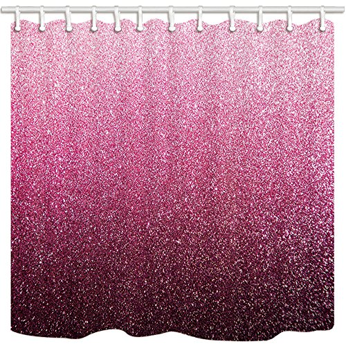 Womanly Decor Vorhänge Dusche von kotom, Pink Glitter für Valentines Hintergrund, wasserdicht Stoff Badezimmer Vorhänge, 175,3x 177,8cm