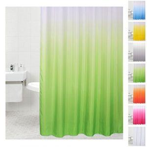 grüner Duschvorhang